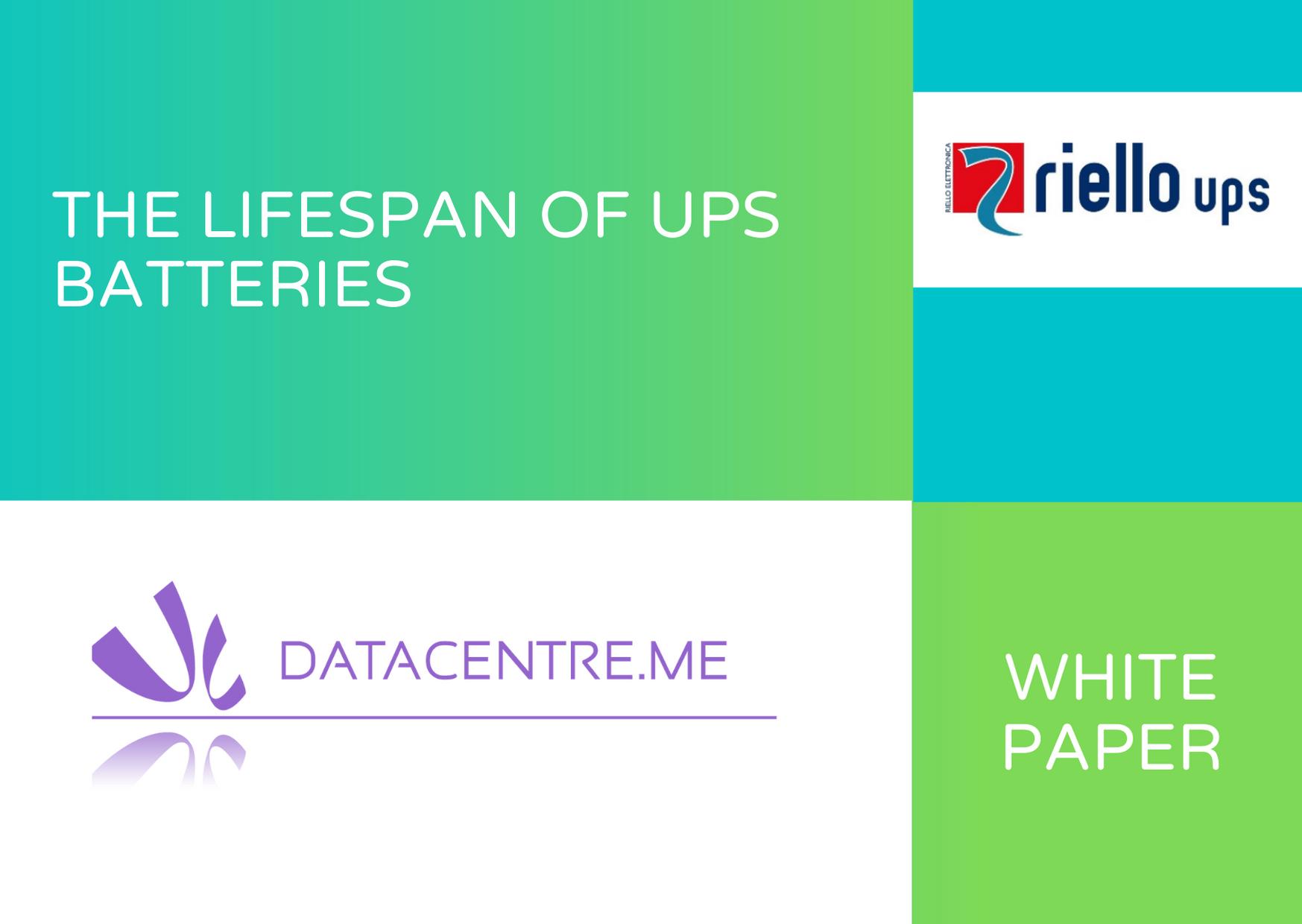 Riello White Paper lifespan of UPS batteries